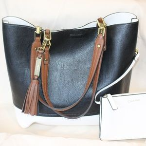 Calvin Klein Reversible Tote with Clutch